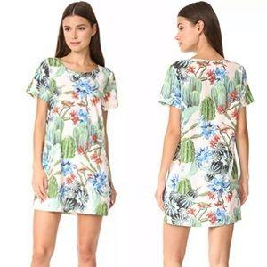 MinkPink Cactus print Shirtdress shift dress